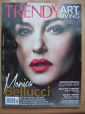 MONICA BELLUCCI on front cover TRENDY ART OF LIVING Magazine 1/2017 M.Monroe
