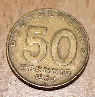 DDR 50 Pfennig 1950 Messing