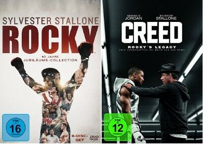 Rocky Box - The Complete Saga + Creed - Rocky's Legacy NEU OVP DVD Set