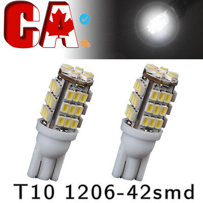 2X T10 Super White 501/194 W5W LED 6 SMD CANBUS ERROR FREE License Plate Signal