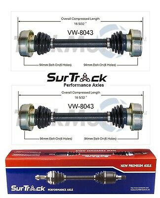 Rear Right Set of 1 Cv Axle Shaft SurTrack For 2002-2008 Jaguar X-Type UU27