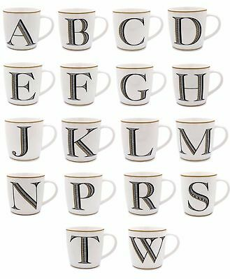 Alphabet Letter Mugs Coffee Initial Scrabble Personalised Gift Fine China 12Cm