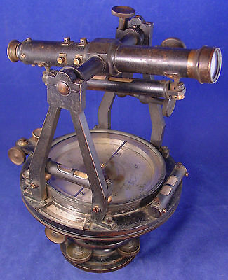 RARE 1867 B. Pike's Son Surveyors Transit - 1 of only a couple Pike Transits