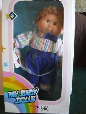 Vintage New Karsuji My Baby Doll by mi bebe' Curly Hair Star Eyed Boy