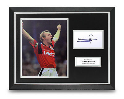 Stuart Pearce Signed 16x12 Framed Photo Display Nottingham Forest Memorabilia