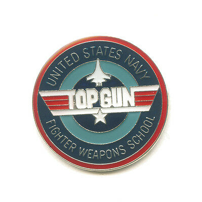TOP GUN United States Navy Emblem USA Metall Button Pin Nadel Anstecker 0419