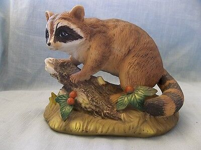 Ceramic Raccoon Figurine, Made in Mexico