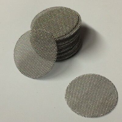 "50 COUNT - Stainless Steel T304 Wire Mesh Filter Discs 1/2"" MADE IN USA!"