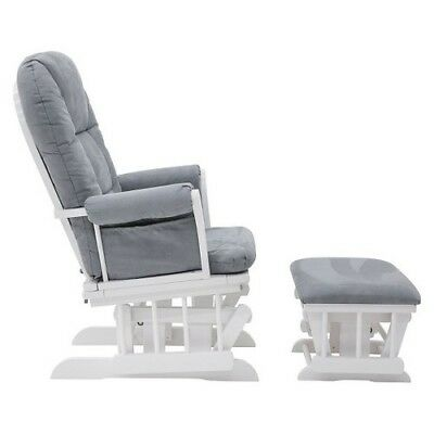 NEW Shermag Alexis Glider Rocker and Ottoman Combo - Wite
