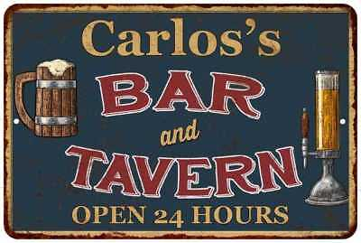 Carlos's Green Bar and Tavern Open 24hrs Chic Sign Home Décor Gift Cave 81207557
