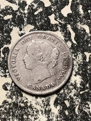 1896 Canada 5 Cents Lot#X037 Silver! Old Cleaning