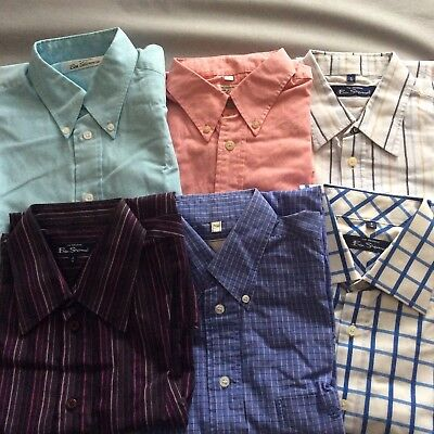 6 x Ben Sherman Shirts - Bundle/Job Lot of Quality Mens Shirts - Size Medium