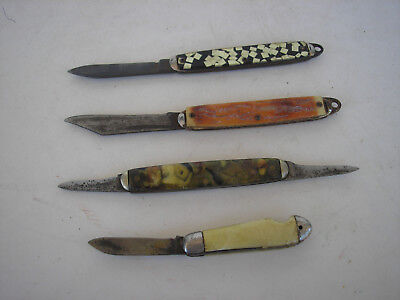 Vintage Single and Double Blade Folding Pocket Knives (4)