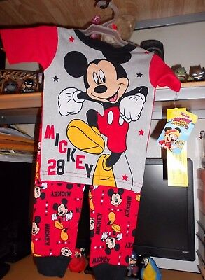 Disney Mickey Mouse 2PC PJ 3.T Brand New With Tags