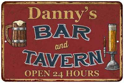 Danny's Red Bar and Tavern Open 24hrs Chic Sign Home Décor Gift Cave 81206375