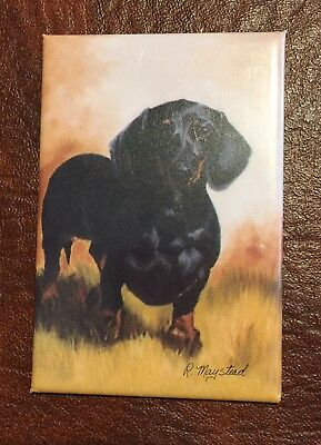 Best Friends Ruth Maystead Magnet NEW DACHSHUND BLACK & TAN