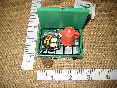 Camp Stove w Skillet & Coffee Pot Camping Christmas Tree Ornament Midwest CBK