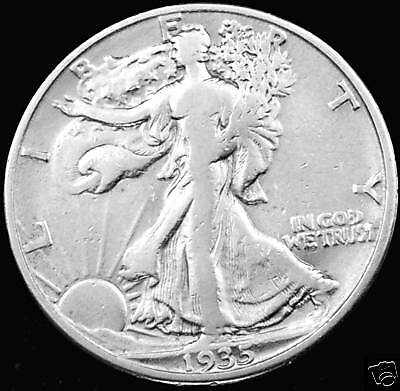 1935-D  Walking Liberty Half Dollar.  Better Grade (Inv.a)