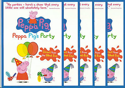 Peppa pig - Peppa pig's party - 2011 UK Tour FLYERS x 5