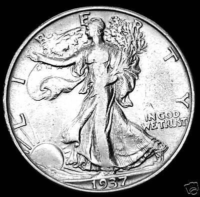 1937-D WALKING LIBERTY HALF DOLLAR.    High Grade   (INV.A)