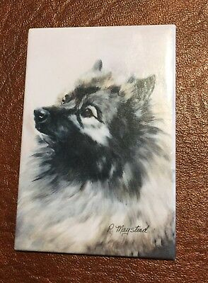 Best Friends Ruth Maystead Magnet NEW KEESHOND