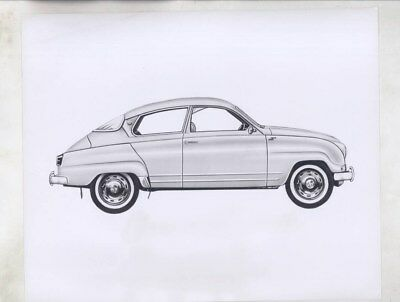 1960 ? Saab 93 ORIGINAL Factory Photograph wy6172