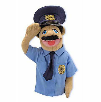 POLICE OFFICER PUPPET  Free Shipping in USA~ Melissa & and Doug  #2551