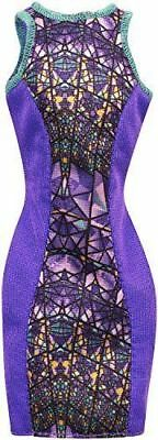 Barbie Doll Fashionistas Clothing Pack Fashion Outfit Purple Stained Glass Dress