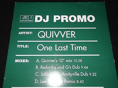 Quivver One Last Time Redanka Lee Coombs John Graham Sasha Digweed 2x12 PROMO
