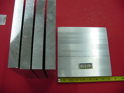 "5 Pieces 1"" X 8"" X 8"" ALUMINUM 6061 SOLID FLAT BAR T6511 New Mill Stock Plate"