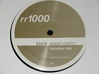 Bjork Pagan Poetry Infusion Mix Sasha Digweed Paul Oakenfold RARE 2002 12""