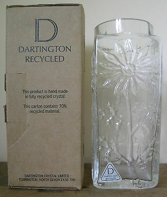 Dartington Recycled Margueritte Vase..1007/cl..boxed