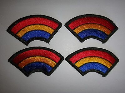 Lot Of 4 US Army 42nd INFANTRY Division RAINBOW Merrowed Edge Patches *Unused*