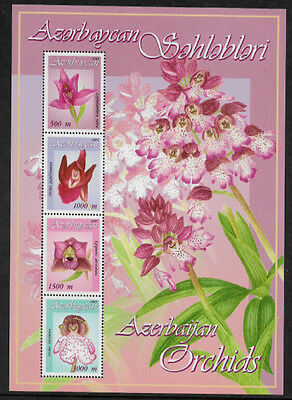 Azerbaijan 792a Mint Never Hinged S/Sheet - Orchids