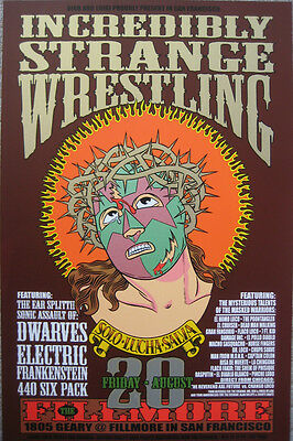 INCREDIBLY STRANGE WRESTLING FILLMORE POSTER Chuck Sperry Firehouse ORIGINAL