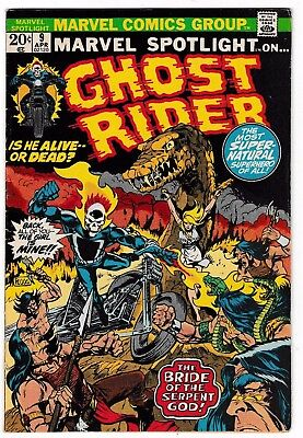 MARVEL SPOTLIGHT #9 (FN-) Early GHOST RIDER Appearance! Mike Ploog Cover! 1973