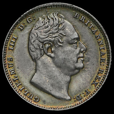 1834 William IV Milled Silver Sixpence, AU