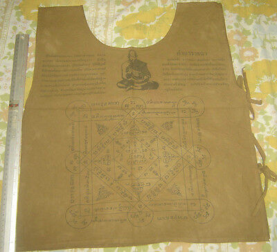 """Suaw-Yahn""Buddha Coat Holy Yantra Cloth""Lung Poo Jonk Monk Wat Natangnok Temple"