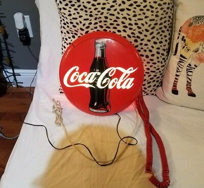 Coca Cola Coke Button Large Phone Light Very Clean Fast Shipping