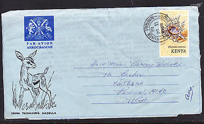 Kenya 1975  Aerogramme  - Young Thomson Gazelle to Hatboro  USA