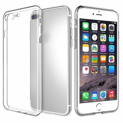 Clear Transparent Soft Silicone TPU Phone Case Cover Skin For iPhone 7/8 Plus
