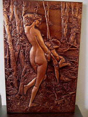 VINTAGE Retro COPPER Picture. Made in Greece.58 x 38cms