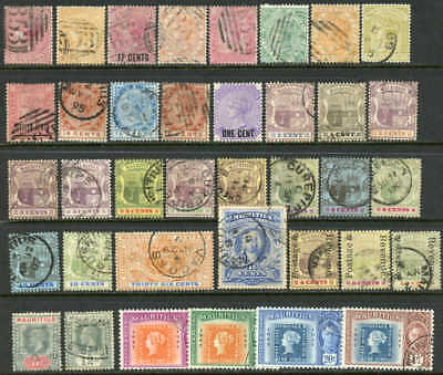 Mauritius early lot of classic issues $125.00