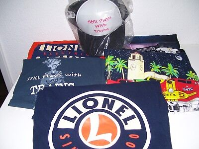 4 Railroad T-shirts XL & Baseball style Lionel Adjustable Hat (New)