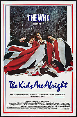 THE KIDS ARE ALRIGHT original 1979 one sheet movie poster THE WHO/KEITH MOON