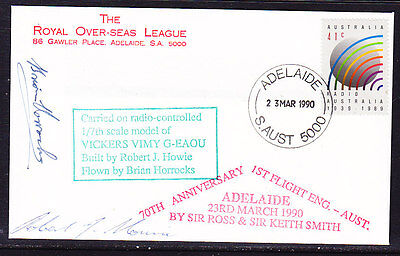Australia 1990 -  Vickers Vimy 70th Anniversary Flight  Covers - Signed