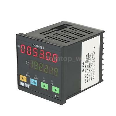 MYPIN FH7-6CRNB 90-260V AC/DC Preset Digital Counter / Length Meter Relay Output