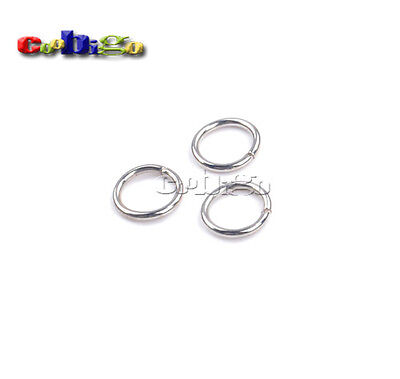 """50pcs 3/8""""(9.4mm)Inner Dia.Metal O Ring Non Welded Connection Key Chain Key Ring"""
