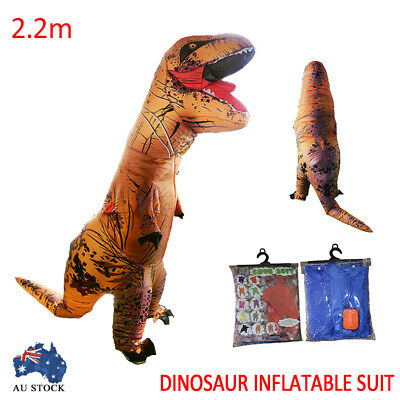 2.2M Inflatable Dinosaur Costum Suit Fancy Costume Dress Fan Operated Party New