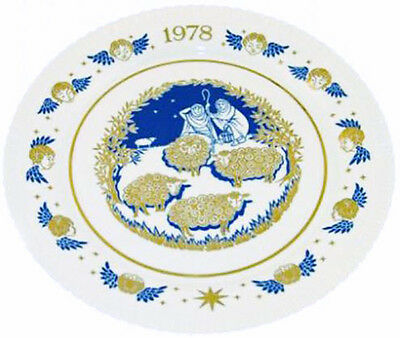 Spode 1978 Christmas Plate While Shepherds Watch
